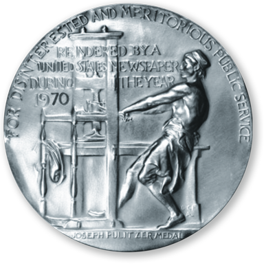 the Pulitzer Prize golden medal