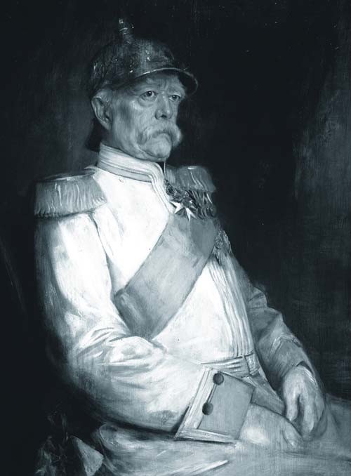 An oil painting of Otto Von Bismarck in later years. Who doubtless knew his fair share of ships' cats