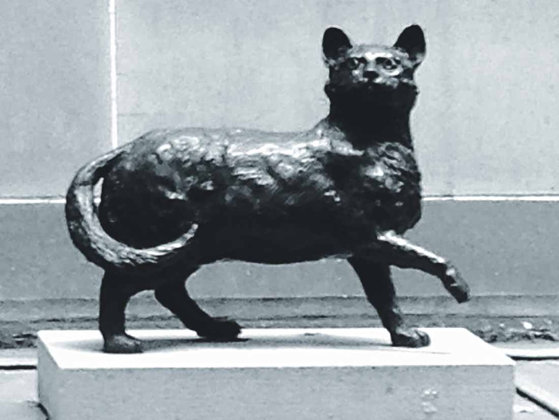 John Cornwell's bronze statue of Trim the Cat